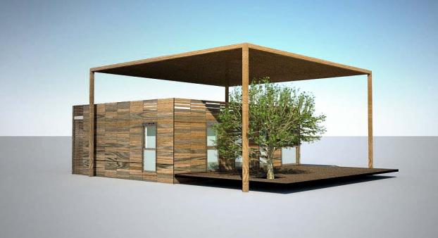 el edificio de la organizacin de solar decathlon europe en la villa solar ser sostenible