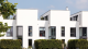 Casa blanca con ventanas