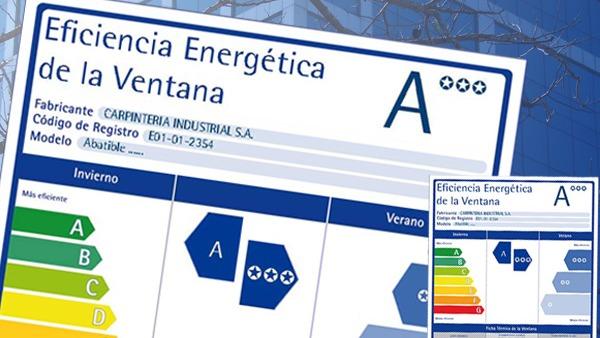 Etiqueta Eficiencia Energética de Ventanas