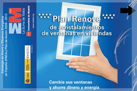 Plan Renove de ventanas de la Comunidad de Madrid 2011