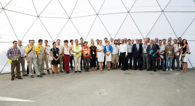 Solar Decathlon 2012: recepción de los equipos
