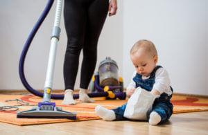 Limpieza hogar con niños