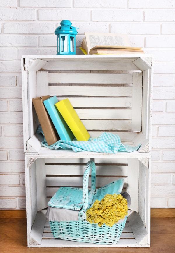 diy estantera con cajas de frutas with cajas para estanterias