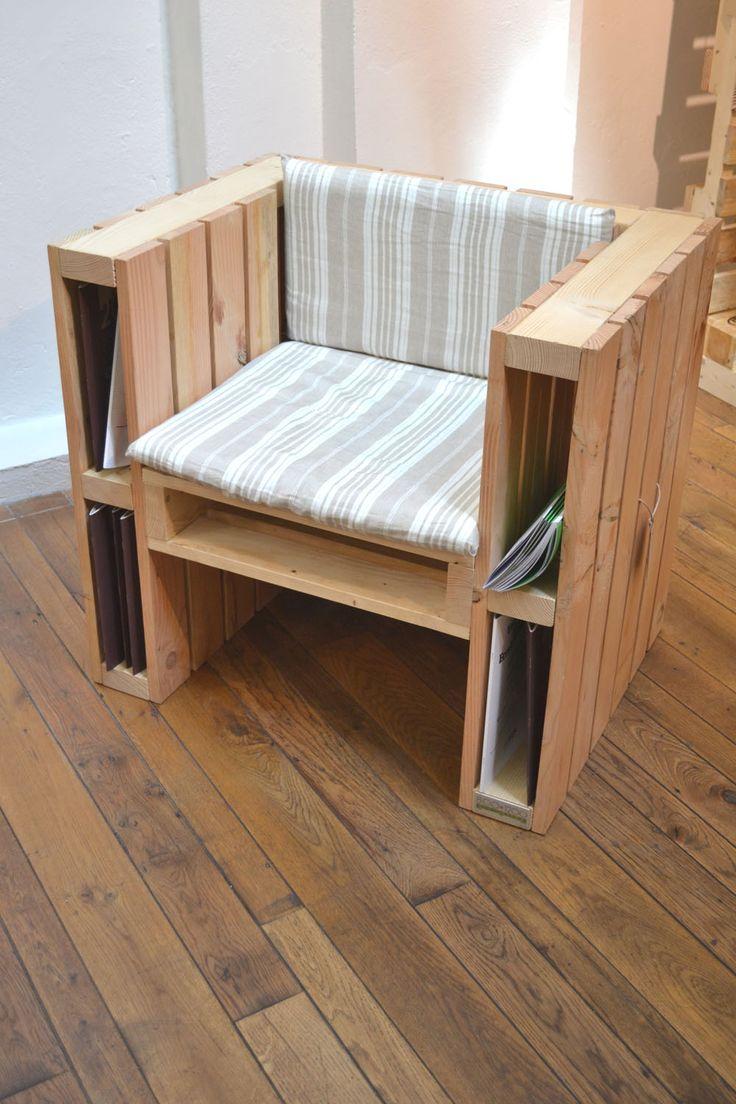 Poltrona hecha con palets de madera