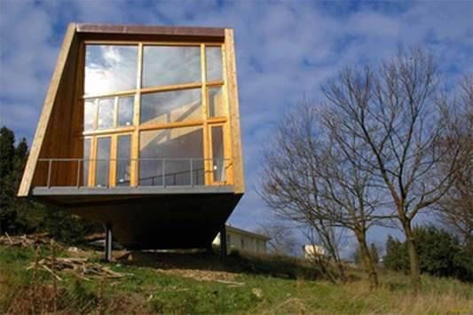Casa de madera de madera laminar
