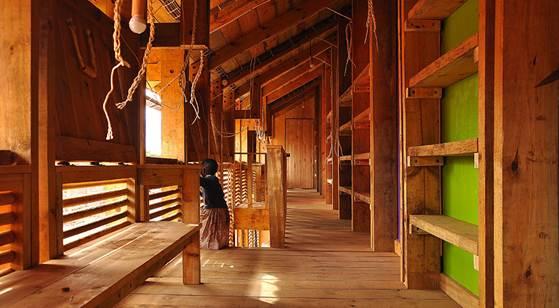 Centro de acogida Saint Jerome (Kenia) - Espacio madera