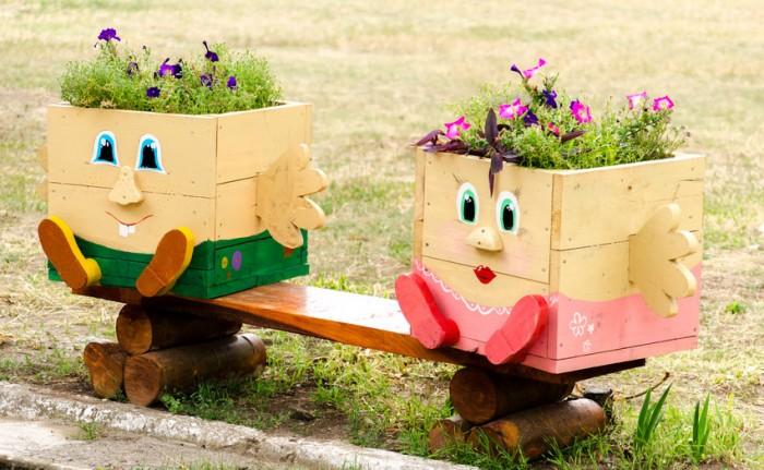 Originales macetas recicladas para tu casa vivienda for Ideas originales para jardines