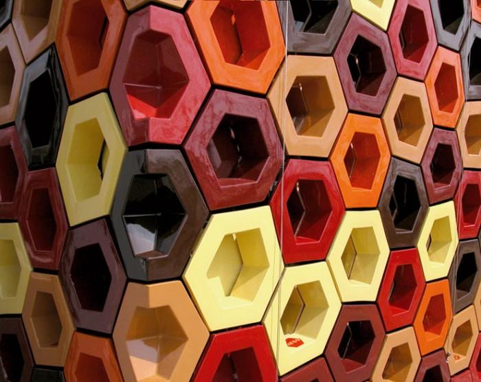 Celosía cerámica pabellón españa Cosas de Arquitectos