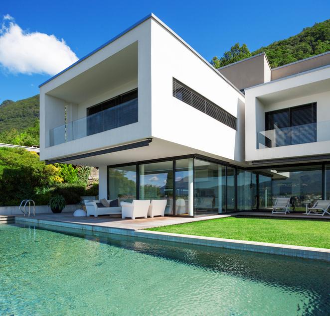 Jardín hogar piscina