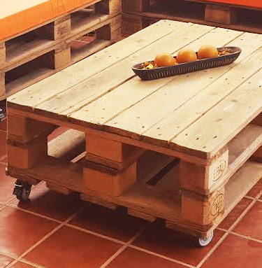 Diy mesa jardin palets
