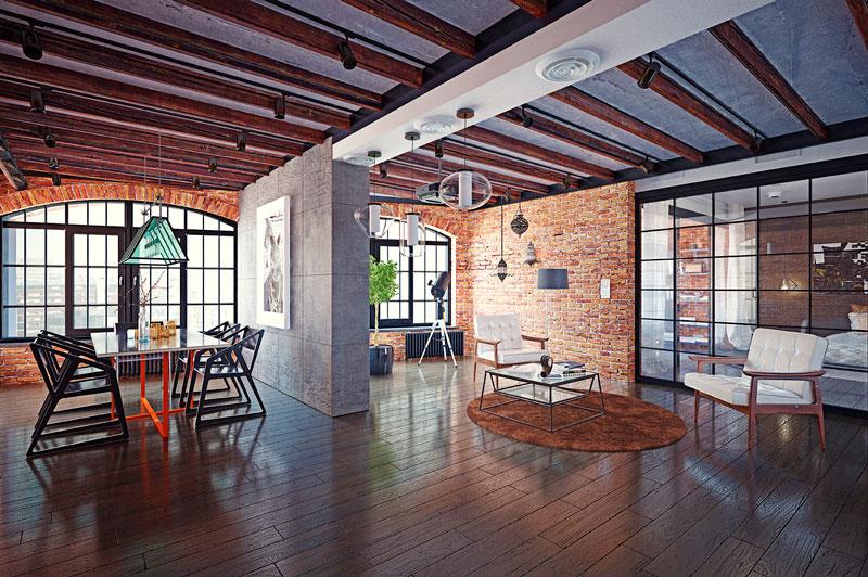 separar ambientes en un loft