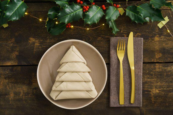 Servilleta en forma de árbol de Navidad