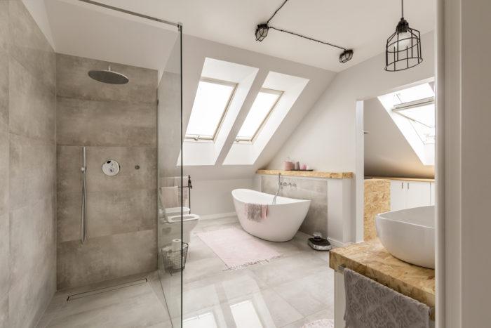 Interior de un baño moderno