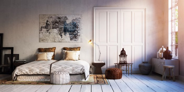 Interior dormitorio vintage