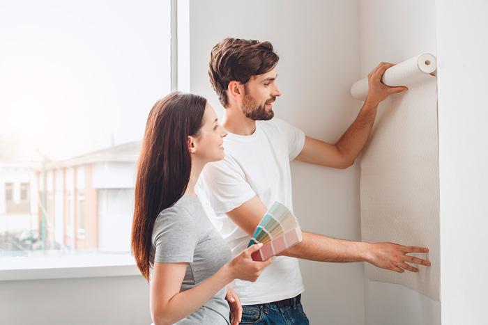 C mo empapelar una pared vivienda saludable - Como empapelar paredes ...