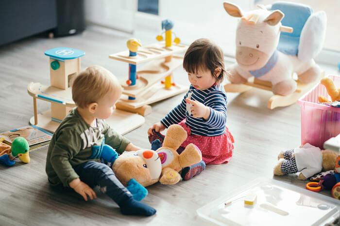habitación con niños