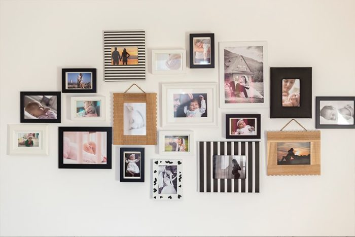 decorar paredes con fotos