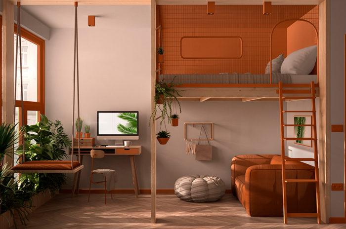 aprovechar espacios en un loft